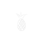 A pineapple surrounded by an array of small circles